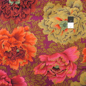 Philip Jacobs PWPJ062 Brocade Peony Autumn Cotton Quilting Fabric By Yard