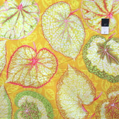 Philip Jacobs PWPJ070 Big Leaf Yellow Cotton Quilting Fabric By Yard