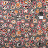 Denyse Schmidt PWDS057 Florence Disc Medallion Carnelian Cotton Fabric By Yard