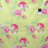 Tanya Whelan PWTW104 Lola Lola Roses Yellow Cotton Fabric By Yd