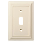 W10762-LAL Lt. Almond Wood Architect Single Switch Switch Cover Wall Plate
