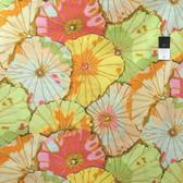 Kaffe Fassett GP29 Lotus Leaf Jade Cotton Fabric By The Yard