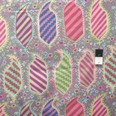 Kaffe Fassett PWGP153 Striped Heraldic Grey Cotton Fabric By The Yard