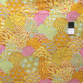 Kaffe Fassett PWGP129 Oriental Trees Yellow Cotton Fabric By The Yard