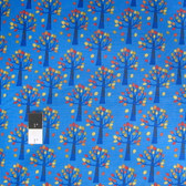Timeless Treasures C3058 Fun Blue Autumn Trees Cotton Quilting Fabric By Yard