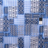 Timeless Treasures C4317 Patchwork Blue Cotton Quilting Fabric By Yard