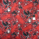 Springs Creative Marvel Ant Man Toss Red Cotton Fabric By Yard