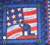 Springs Creative Soldiers Prayer Pillow Panel Blue Fabric By Yard