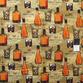 Springs Creative Kentucky Derby Bourbon Tan Cotton Fabric By Yard