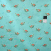 Timeless Treasures C4474 Mushrooms Mint Cotton Quilting Fabric By Yard