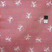 Tex Creative Prints Regal Gingham Red Cotton Fabric By Yard