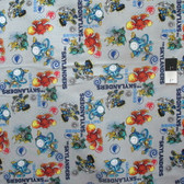 Camelot Fabrics Skylanders Allover Gray Cotton Quilting Fabric By Yard