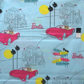 VIP Barbie Blue Cotton Fabric By Yard