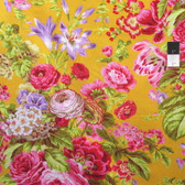 Philip Jacobs PWPJ075 Floral Delight Yellow Cotton Quilting Fabric By Yard