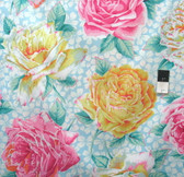 Philip Jacobs PWPJ077 Rose Bloom Sky Cotton Quilting Fabric By Yard