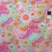 Kaffe Fassett GP89 Asian Circles Pink Cotton Fabric By The Yard