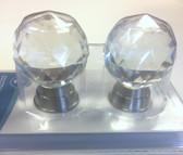 """Brainerd 2727293 Glass & Satin Nickel 1 9/16"""" Oversized Bi-Fold Door Knob 2 Pack"""