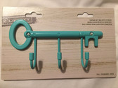 Young House Love VKR002-DT Vintage 3 Hook Key Rail Teal Finish
