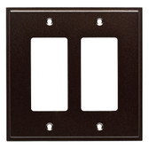 W35317-CO Simple Step Cocoa Bronze Double GFCI Cover Wall Plate