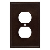 W35311-CO Simple Step Cocoa Bronze Single Duplex Cover Wall Plate