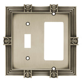64466 Satin Pewter Single Switch/GFCI Pineapple Cover Plate
