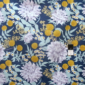 Joel Dewberry PWJD115 Wander Moon Garden Midnight Cotton Fabric By Yd