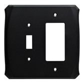 Brainerd Serene W34477-FB Flat Black Switch / GFCI Cover Plate