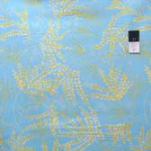 Dena Designs PWDF136 The Painted Garden Fern Aqua Cotton Fabric By Yard