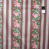 Verna Mosquera PWVM115 Snapshot Blooming Border Stripe Sepia Cotton Fabric By Yd