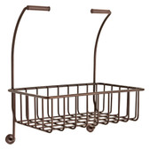 193105-CBZ Convenience Basket For Toilet Paper Holder Champagne Bronze Finish