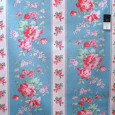Verna Mosquera PWVM105 Rosewater Climbing Blooms Pool Cotton Fabric By Yd
