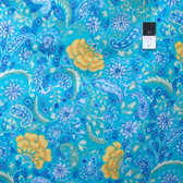 Dena Designs PWDF139 The Painted Garden Blossom Aqua Cotton Fabric By Yard