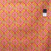 Dena Designs PWDF167 Tangier IKAT Geo Orange Cotton Fabric By Yard