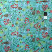 Dena Designs PWDF256 Winterland Snowberry Blue Cotton Fabric By Yard