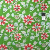 Dena Designs PWDF257 Winterland Poinsettia Green Cotton Fabric By Yard