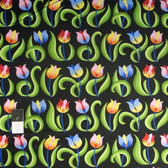 Jane Sassaman Spring Fever PWJS099 Tulips Mexican Cotton Fabric By Yard