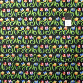 Jane Sassaman Spring Fever PWJS100 Mini Tulips Mexican Cotton Fabric By Yard