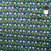 Jane Sassaman Spring Fever PWJS100 Mini Tulips Indigo Cotton Fabric By Yard