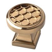 "P30234C-CZ  1 1/4"" Scalloped Cabinet Drawer Knob Champagne Bronze"