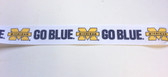 "University of Michigan Go Blue Grosgrain Ribbon 10 Yds 7/8"" Wide"