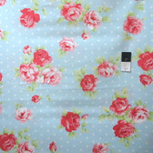 Tanya Whelan PWTW093 LuLu Roses Lily Sky Cotton Quilting Fabric By Yard