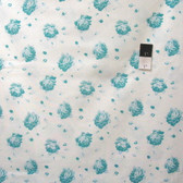 Tanya Whelan PWTW140 Shade Of Rose Falling Rose Teal Cotton Fabric By The Yard