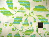 Dena Designs DF36 Monaco Striped Leaves Green Fabric By Yard