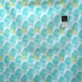 Zandra Rhodes Flower Garden Voile VOZR003 Tassels Teal Fabric By Yard