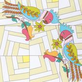 Kathy Doughty Folk Art Revolution Folk Art Pretty Cotton Fabric By Yd
