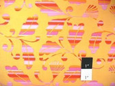 Dena Designs DF36 Monaco Striped Leaves Gold Fabric By Yard