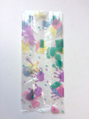 "Cel-o-brations! Baby Prints Cellophane Bags 3 1/2"" x 2"" x 7 1/2"" Box of 100"