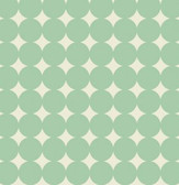 Heather Bailey True Colors PWTC014 Mod Dot Aqua Cotton Fabric By The Yard
