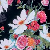 Nel Whatmore PWNW076 Rosealea Black Cotton Fabric By Yard