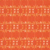 Nel Whatmore PWNW079 Rosealea Flower Braid Orange Cotton Fabric By Yard